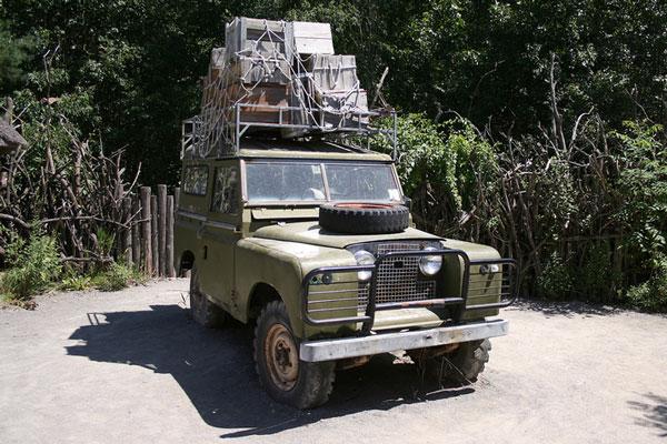 four wheel drive vehicle on an African safari