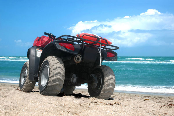 atv - all terrain vehicle on beach