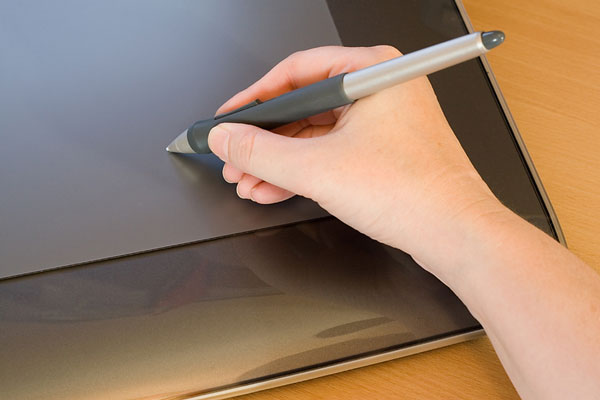 computer graphics tablet and pen