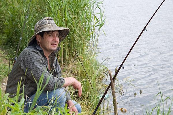 fisherman and fishing pole