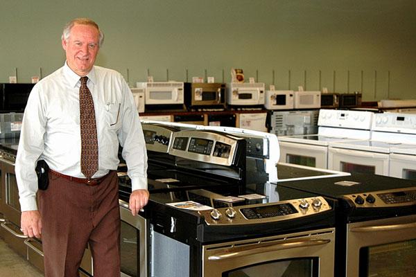 home appliance store - appliance salesman