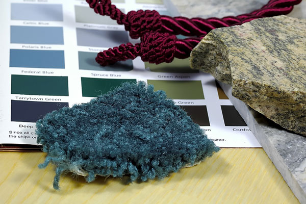 interior design samples and color swatches