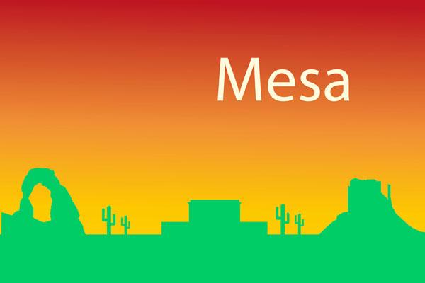 Mesa skyline - gradient