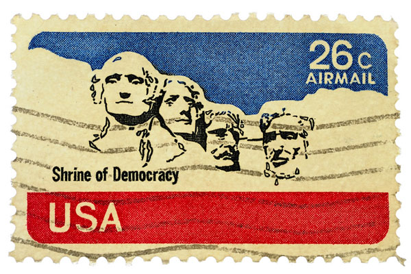 old United States airmail stamp
