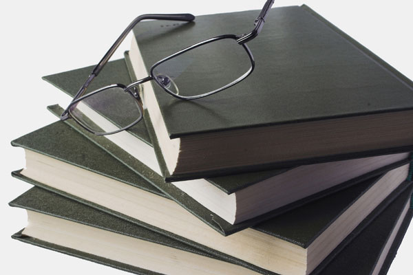 reference picture - stack of reference books