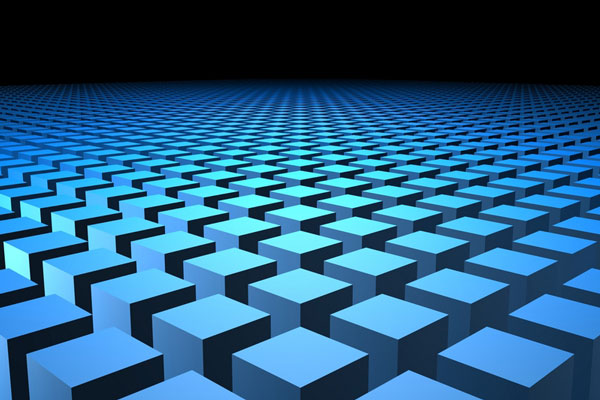 3d rendering of blue cubes