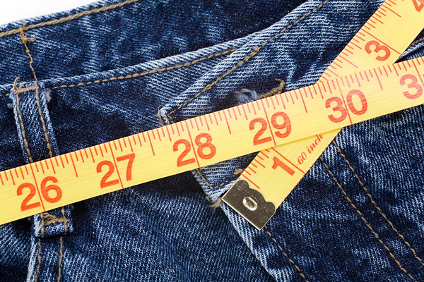 blue jeans and tape measure